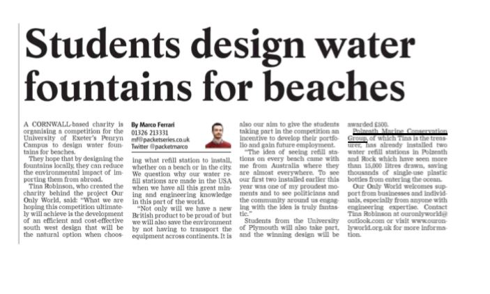 Falmouth newspaper coverage of engineering competition